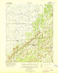 Acorn Missouri Historical topographic map, 1:62500 scale, 15 X 15 Minute, Year 1935