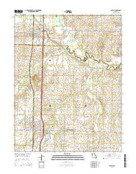Adrian Missouri Current topographic map, 1:24000 scale, 7.5 X 7.5 Minute, Year 2014