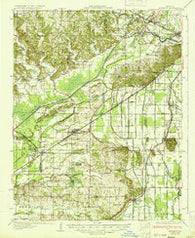 Advance Missouri Historical topographic map, 1:62500 scale, 15 X 15 Minute, Year 1934