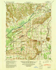 Advance Missouri Historical topographic map, 1:62500 scale, 15 X 15 Minute, Year 1939