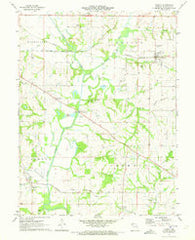 Agency Missouri Historical topographic map, 1:24000 scale, 7.5 X 7.5 Minute, Year 1971