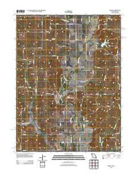 Akron Missouri Historical topographic map, 1:24000 scale, 7.5 X 7.5 Minute, Year 2012
