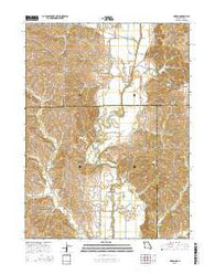 Akron Missouri Current topographic map, 1:24000 scale, 7.5 X 7.5 Minute, Year 2015