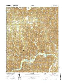 Alley Spring Missouri Current topographic map, 1:24000 scale, 7.5 X 7.5 Minute, Year 2015