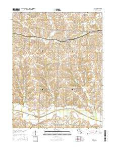 Alma Missouri Current topographic map, 1:24000 scale, 7.5 X 7.5 Minute, Year 2015