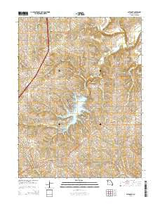 Altamont Missouri Current topographic map, 1:24000 scale, 7.5 X 7.5 Minute, Year 2015