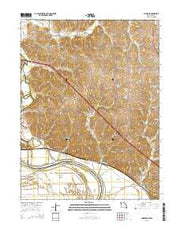 Amazonia Missouri Current topographic map, 1:24000 scale, 7.5 X 7.5 Minute, Year 2015 from Missouri Maps Store