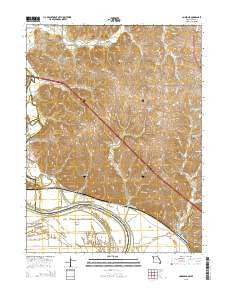 Amazonia Missouri Current topographic map, 1:24000 scale, 7.5 X 7.5 Minute, Year 2015