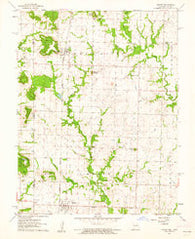 Amoret Missouri Historical topographic map, 1:24000 scale, 7.5 X 7.5 Minute, Year 1961