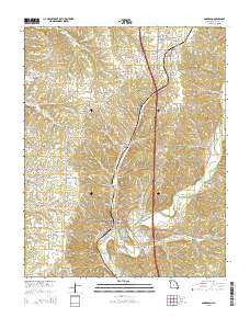 Anderson Missouri Current topographic map, 1:24000 scale, 7.5 X 7.5 Minute, Year 2015