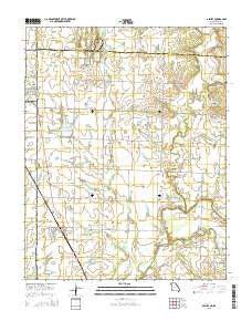 Asbury Missouri Current topographic map, 1:24000 scale, 7.5 X 7.5 Minute, Year 2015