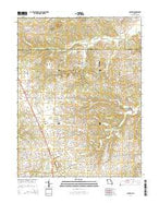 Auburn Missouri Current topographic map, 1:24000 scale, 7.5 X 7.5 Minute, Year 2014 from Missouri Map Store