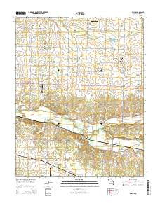 Avilla Missouri Current topographic map, 1:24000 scale, 7.5 X 7.5 Minute, Year 2015