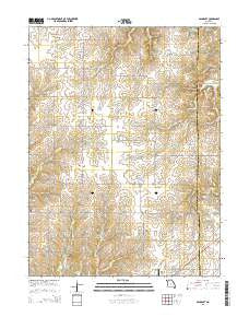 Bancroft Missouri Current topographic map, 1:24000 scale, 7.5 X 7.5 Minute, Year 2015