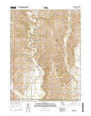 Barnard Missouri Current topographic map, 1:24000 scale, 7.5 X 7.5 Minute, Year 2014 from Missouri Maps Store