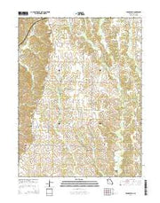 Barnesville Missouri Current topographic map, 1:24000 scale, 7.5 X 7.5 Minute, Year 2014 from Missouri Maps Store