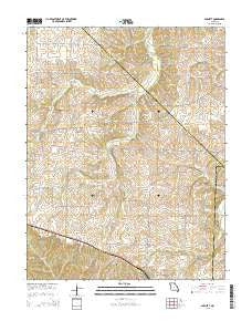 Barnett Missouri Current topographic map, 1:24000 scale, 7.5 X 7.5 Minute, Year 2015