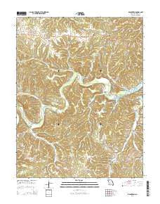Barnumton Missouri Current topographic map, 1:24000 scale, 7.5 X 7.5 Minute, Year 2015