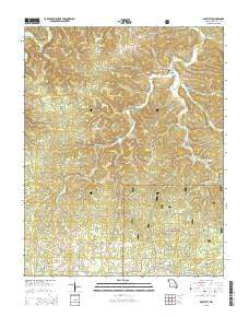 Bartlett Missouri Current topographic map, 1:24000 scale, 7.5 X 7.5 Minute, Year 2015