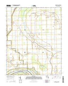 Bayouville Missouri Current topographic map, 1:24000 scale, 7.5 X 7.5 Minute, Year 2015