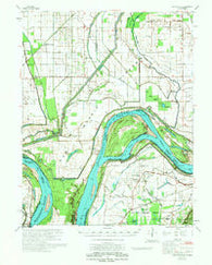 Bayouville Missouri Historical topographic map, 1:62500 scale, 15 X 15 Minute, Year 1972