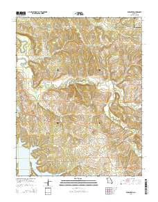 Bearcreek Missouri Current topographic map, 1:24000 scale, 7.5 X 7.5 Minute, Year 2015