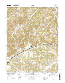 Belle Missouri Current topographic map, 1:24000 scale, 7.5 X 7.5 Minute, Year 2015