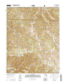 Beulah Missouri Current topographic map, 1:24000 scale, 7.5 X 7.5 Minute, Year 2015