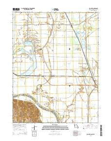 Big Lake Missouri Current topographic map, 1:24000 scale, 7.5 X 7.5 Minute, Year 2015
