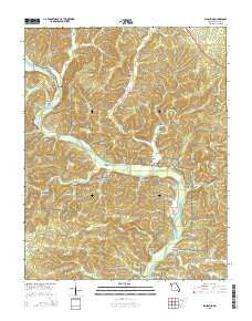 Big Spring Missouri Current topographic map, 1:24000 scale, 7.5 X 7.5 Minute, Year 2015