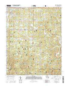 Birch Tree Missouri Current topographic map, 1:24000 scale, 7.5 X 7.5 Minute, Year 2015
