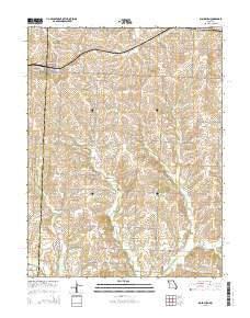 Blackburn Missouri Current topographic map, 1:24000 scale, 7.5 X 7.5 Minute, Year 2015