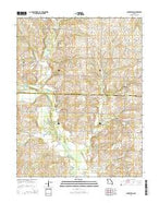 Blairstown Missouri Current topographic map, 1:24000 scale, 7.5 X 7.5 Minute, Year 2014 from Missouri Map Store