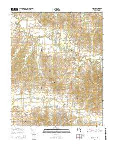 Bloomfield Missouri Current topographic map, 1:24000 scale, 7.5 X 7.5 Minute, Year 2015