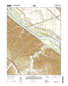 Bloomsdale Missouri Current topographic map, 1:24000 scale, 7.5 X 7.5 Minute, Year 2015