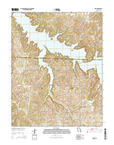 Bona Missouri Current topographic map, 1:24000 scale, 7.5 X 7.5 Minute, Year 2015