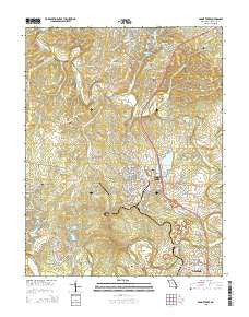 Bonne Terre Missouri Current topographic map, 1:24000 scale, 7.5 X 7.5 Minute, Year 2015
