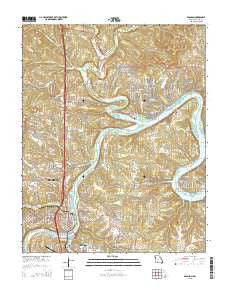Branson Missouri Current topographic map, 1:24000 scale, 7.5 X 7.5 Minute, Year 2015