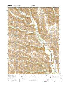 Brashear Missouri Current topographic map, 1:24000 scale, 7.5 X 7.5 Minute, Year 2015