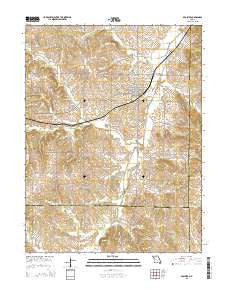 Braymer Missouri Current topographic map, 1:24000 scale, 7.5 X 7.5 Minute, Year 2015