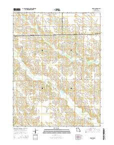 Brock Missouri Current topographic map, 1:24000 scale, 7.5 X 7.5 Minute, Year 2015