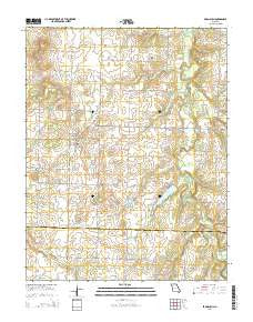 Bronaugh Missouri Current topographic map, 1:24000 scale, 7.5 X 7.5 Minute, Year 2015