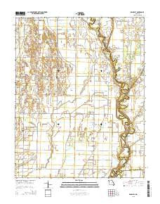 Broseley Missouri Current topographic map, 1:24000 scale, 7.5 X 7.5 Minute, Year 2015