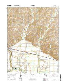 Brunswick East Missouri Current topographic map, 1:24000 scale, 7.5 X 7.5 Minute, Year 2015