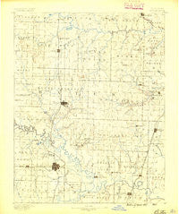 Butler Missouri Historical topographic map, 1:125000 scale, 30 X 30 Minute, Year 1887