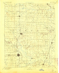 Butler Missouri Historical topographic map, 1:125000 scale, 30 X 30 Minute, Year 1894
