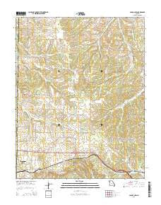 Cabool NW Missouri Current topographic map, 1:24000 scale, 7.5 X 7.5 Minute, Year 2015