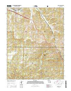 Cabool SE Missouri Current topographic map, 1:24000 scale, 7.5 X 7.5 Minute, Year 2015