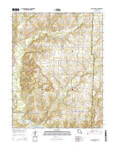 Calhoun East Missouri Current topographic map, 1:24000 scale, 7.5 X 7.5 Minute, Year 2015