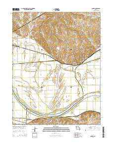 Camden Missouri Current topographic map, 1:24000 scale, 7.5 X 7.5 Minute, Year 2015
